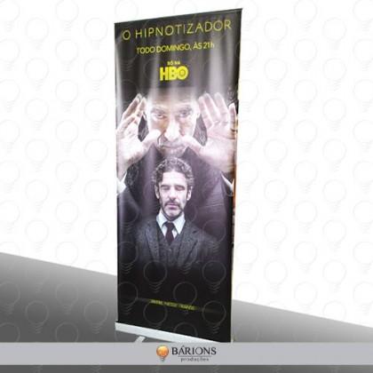 Banner Roll Up em Lona para Divulgação de Filme