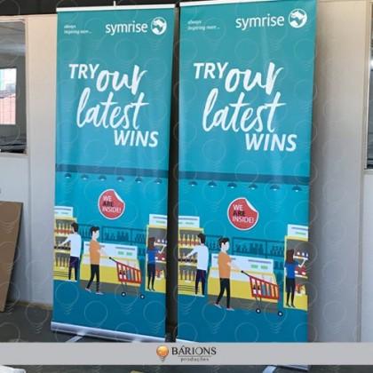 Banner Roll Up em Lona com impressão digital