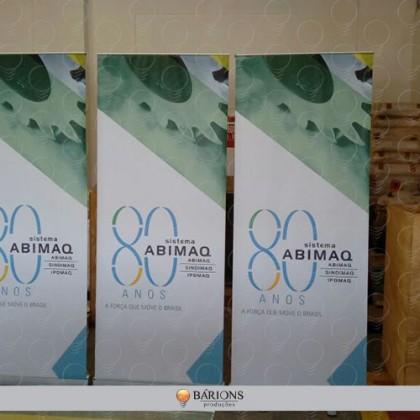 Banner Roll Up em Tecido para Evento Corporativo