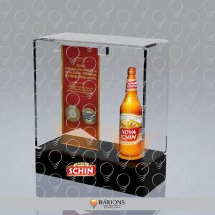 Display Expositor de Acrílico para Bebida com Iluminação em LED
