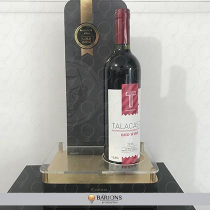 Display de Acrílico para Exposição de Vinho