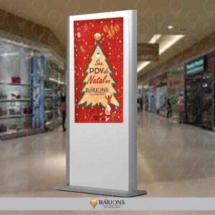 Totem de MDF para Sinalização de Natal
