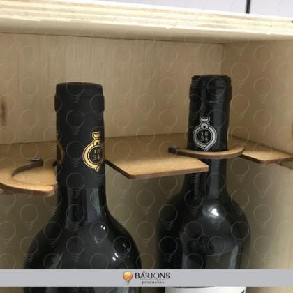 Caixa para Vinho com Gravação a Laser e Travamento Especial
