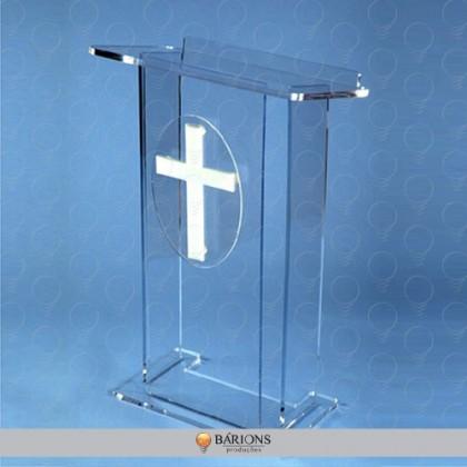 Púlpito em Acrílico Cristal com Decoração