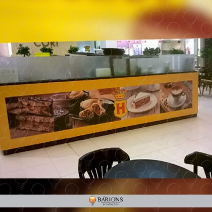 Ilha de Shopping Café Havanna com Placa em ps
