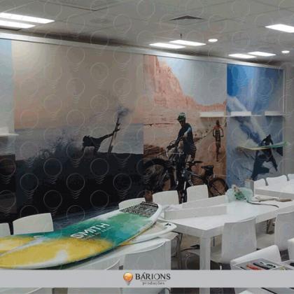 Adesivo Impresso em Sistema Digital | Ambientação Corporativa