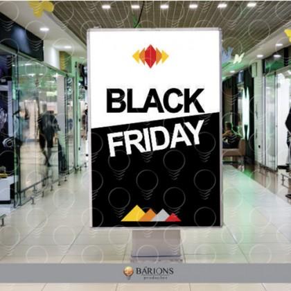 Totem Promocional para Shopping | Black Friday - 2020