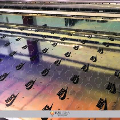 Adesivo holográfico com impressão direta