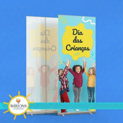 Banner Roll Up em Lona ou Tecido | Dia das Crianças - 2021