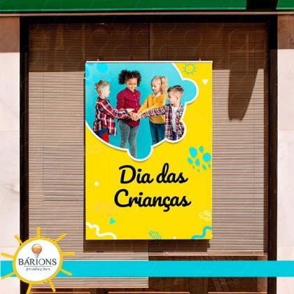Banner Tradicional em Lona ou Tecido | Dia das Crianças - 2021