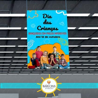Super Banner em Lona Suspenso | Dia das Crianças - 2021