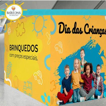 Tapume para Loja de Shopping | Dia das Crianças - 2021