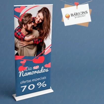 Banner Roll Up - Dia dos Namorados 2021
