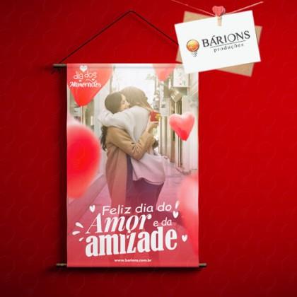 Banner Em Lona ou Tecido - Dia dos Namorados 2021