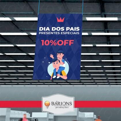 Super Banner em Lona Suspenso   Dia dos Pais - 2021