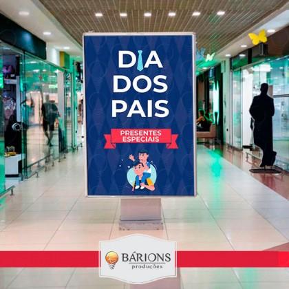 Totem em LED para Shopping   Dia dos Pais - 2021