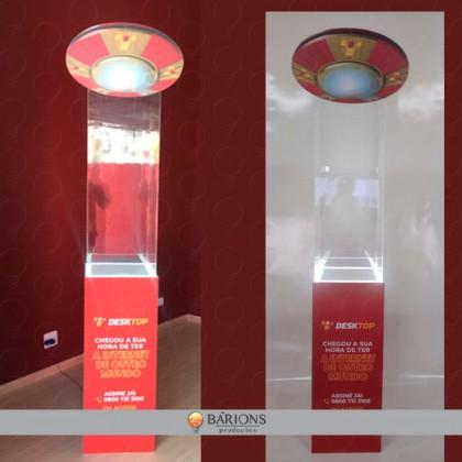 Display Expositor em MDF, acrílico com iluminação em LED