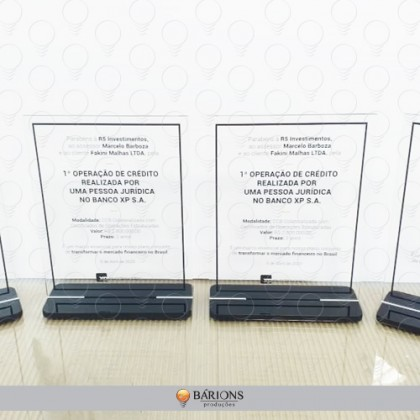 Troféu em Acrílico com Impressão em Tecnologia UV