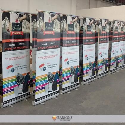Porta Banner Roll Up em Lona