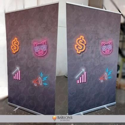 Porta Banner Rollup para Lona e Tecido