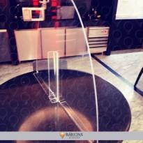 .Divisória para Proteção em Acrílico para Mesa de Restaurante - COVID-19