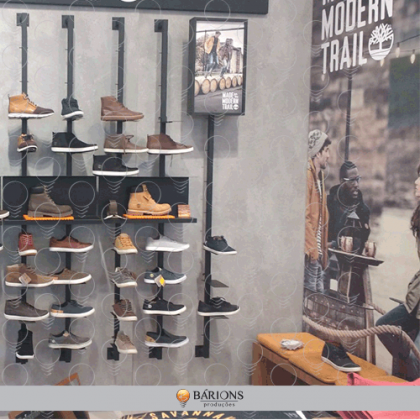 Showroom Timberland com Shoe Shelf de Engate