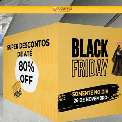 Tapume para Loja de Shopping | Black Friday - 2021