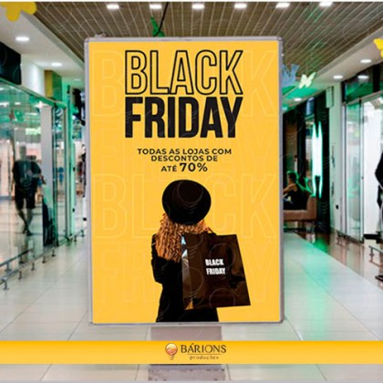 Totem em LED para Shopping   Black Friday - 2021