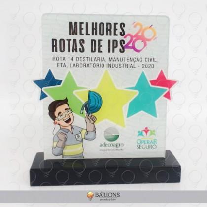 Troféu em Acrílico com Impressão e Formato Especial