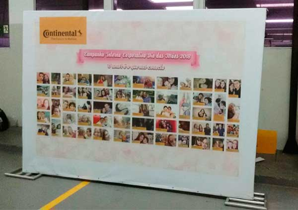 Estrutura box truss desenvolvida para campanha de Dia das Mães - Continental | Bárions Produções