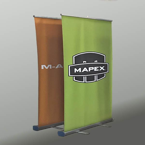 Banner roll up produzido pela Bárions Produções