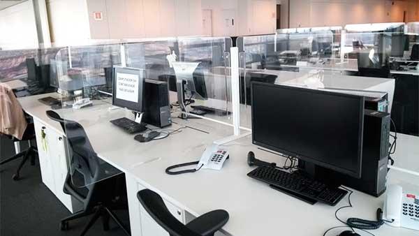 Barreiras de Proteção para escritório e centro comercial   Bárions Produções