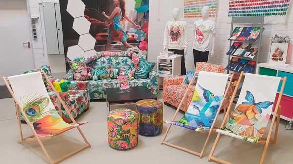 Showroom para itens em tecido impresso e sublimação   Bárions Produções