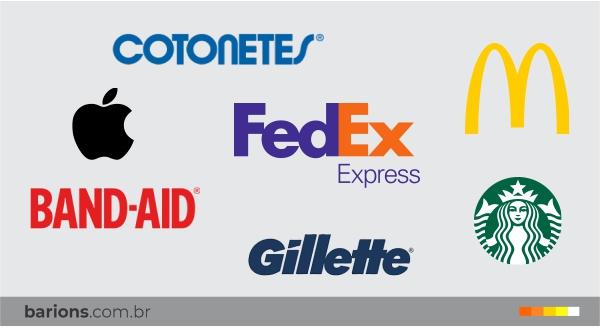 Relação de marcas que são utilizadas para dar nomes aos produtos e seus segmentos | Bárions Produções