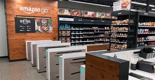 Imagem da loja da Amazon Go para exemplificar o que éuma loja phigital - figital | Bárions Produções