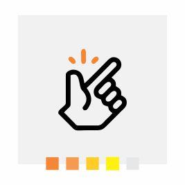 Ícone que ilustra a facilidade de uso do Banner Roll Up | Bárions Produções